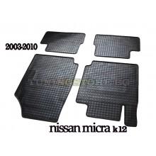 Гумени стелки за Nissan Micra K12 2003-2010 година